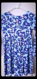 Hanna Andersson Dresses - Hanna Andersson Blue Floral Dress Girls 130